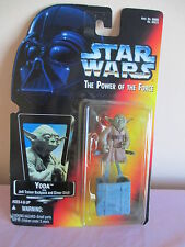 1995 Star Wars Power Of The Force YODA w/Backpack & Gimer Figure NEW Red Card