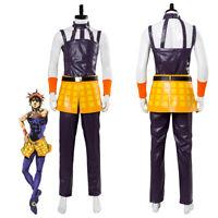 JoJo's Bizarre Adventure Golden Wind Narancia Ghirga Cosplay Costume Full Set