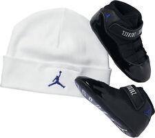 Jordan 11 Retro Space Jam Gift Pack Crib 378049-003 Baby Beanie & Shoes Size 2
