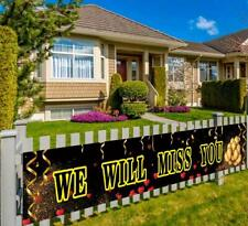 Large We Will Miss You Banner, Farewell Party Decoration, Going Away Party Suppl