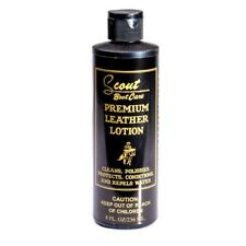 Premium Leather Lotion -Scout Boot Care- Cleans, Polishes, Protects, Conditions+