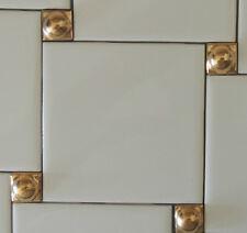 DECORATIVE WALL TILES-24K GOLD  INSERTS (5) KITCHEN BACKSPLASH - Tile Liners