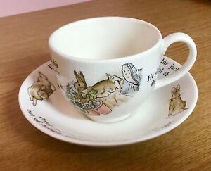 Wedgewood Peter Rabbit Teacup And Saucer Set Beatrix Potter Cup