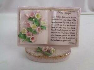 Vintage Lefton China Lord's Prayer Planter - Perfect for succulents!