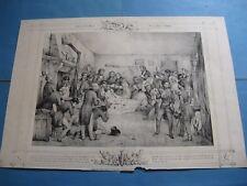 """BELLE LITHOGRAPHIE """"MORT DU DUC D'ORLEANS"""" 1842 ORLEANISME Signé VICTOR ADAM"""
