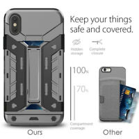 Hybrid Shockproof Hard&Soft Cover Wallet Case For iPhone 7 8 iPhone 6s 6 Plus SE