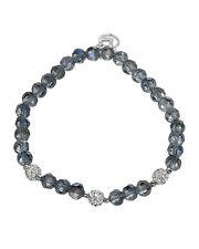 Lovely Ladies / Girls Bracelet With Genuine Crystal 925 Sterling silver 6in