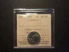 Strongly struck - 1931 5c ICCS EF-45