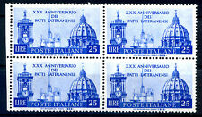 ITALIA 1959 - PATTI LATERANENSI  QUARTINA NUOVA **