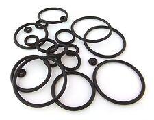 4 X BLACK RUBBER O-RINGS ear plugs tunnels CHOOSE SIZE