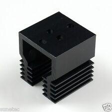 SS388% TO-3 holes x1 Aluminum Black Heatsink Heat Sink Audio Amplifier