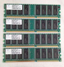 Lot of 4 Nanya 256MB DDR-333MHZ-CL2.5 PC2700U-25330