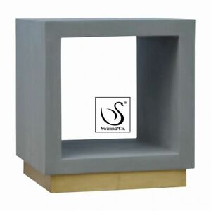 Cement Cube Open Bedside/End Table