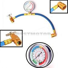 R134A Car Air Conditioning Measuring Recharge Refrigerant Kit Hose Gauge Adapter