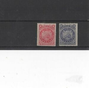 BOLIVIA , 1887, SG46/7 TYPE 4 1c RED AND 2c VIOLET, MH     G.C.V..