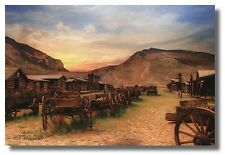 """Old West Pioneer Town""""Old Trail Town"""" By Lori Deiter 18x12 WallArt Print Picture"""