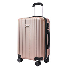 CarryOne 20in Carry on Luggage Suitcase, Built-in TSA Lock, Spinner Wheels, Side