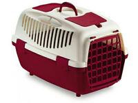 Trasportino gulliver 2  per cani gatti colore burgundy/avorio  55X36XH35