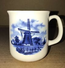 Ter Steege BV Deft Blauw Mug Windmill Handdecorated in Holland White Blue 8 Oz