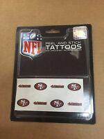 T2) SF 49ers Peel and Stick Football Tattoos NFL New