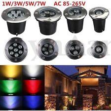1/3/5/7W LED Gartenstrahler Bodeneinbaustrahler Außenleuchte Spot Strahler Lampe