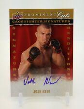 2009 Upper Deck Prominent Cuts JOSH NEER Cage Fighter Signatures Auto MMA