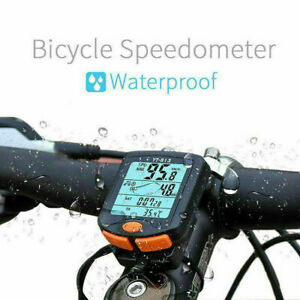 Wireless Bicycle Bike LCD Computer Odometer Speedometer Back light UK SELLER