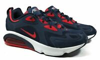 Nike Air Max 200 AQ2568-402 Running Shoes Obsidian Blue Red Men's Chose Size