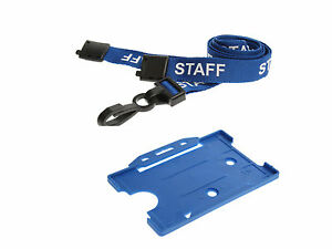 ID Card Pass Badge Name Holder and Matching Staff Neck Strap Lanyard NHS Office