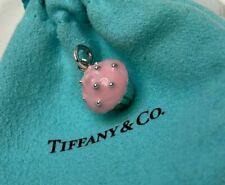 Tiffany & Co. Sterling Silver 925 Pink Enamel Cupcake Charm Pendant w/ Pouch