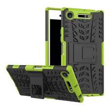 Etui Hybride 2 Pièces Extérieur Vert housse étui pour Sony Xperia XZ1 G8341