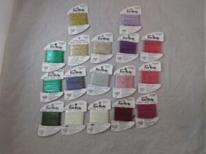 Rainbow Gallery Fyre Werks Hologram Ribbon  Lot of 17 Asst 10 yds ea NEW   C140