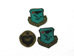 Lot 3 Alaska Patches USAF Alaskan Air Command Army Green Black Bear Arctic AK