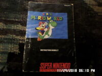 Super Mario World (SNES Super Nintendo) Instruction Manual Book Only... NO GAME