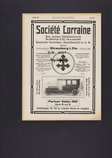 STRASSBURG, Werbung 1910, Société Lorraine Dietrich & Cie. de Luneville Auto