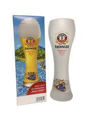 """Erdinger - Bavarian German Beer Glass 0.5 Liter """"Rafting Gaudi - Brezn Madl"""" NEW"""