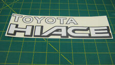 Toyota Hiace rear replacement decal sticker graphic restoration Van