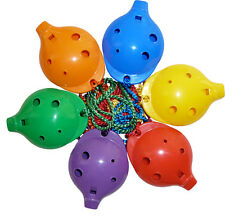 OCARINAS, Set of 6 Rainbow Ocarinas, 4-hole by Ocarina Workshop