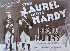 BEAU HUNKS MOVIE POSTER ~ UNIFORMS 23x31 Stan Laurel & Oliver Hardy