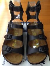 564e3a52d2c Birkenstock Athen 032193 Size 36 L5-5.5 Narrow Black Leather Sandals