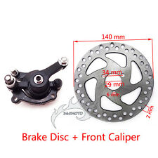 Rear Disc Brake Caliper Kit 140mm Rotors Electric Gas Mini Dirt Bike ATV Scooter