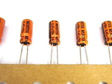 10pcs 0.47uF .47uf 50V Low Leakage Hi-End Audio Path Electrolytic Capacitors NEW