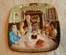 """Royal Doulton Decorative Plate """"Christmas in England"""" Limited Edition 1972"""