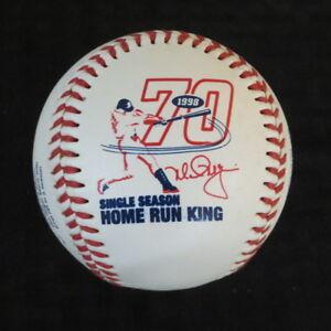 1998 Mark McGwire St Louis Cardinals Fotoball 70 Home Run Baseball