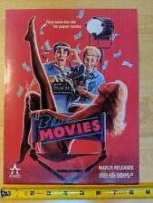 Video Advertisement Blue Movies / Doom Asylum VHS Promo 1987
