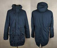 Sale% Drei Master Damen Winterjacke Gr. XL Blau Warm Parka Wintermantel