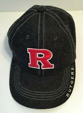 Rutgers University Gray Wool Blend Baseball Cap Hat Adjustable Top Of The World