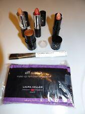Lot Of 6 Laura Geller Lipsticks,Bronze Luminizer,Towelete,Sculpt ing Brush *New*