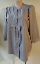 Target plus size 18 grey striped shirt top 3/4 sleeve