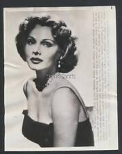 "Original Zsa Zsa Gabor Press Photo 1951  ""Diamonds are better than money. """